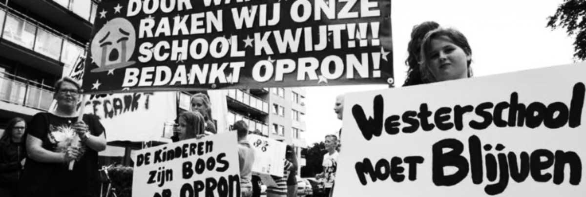 Steun tegen sluiting Westerschool